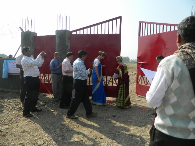 Dongre Vasti Wall Gate opening, with Carol Bagrie