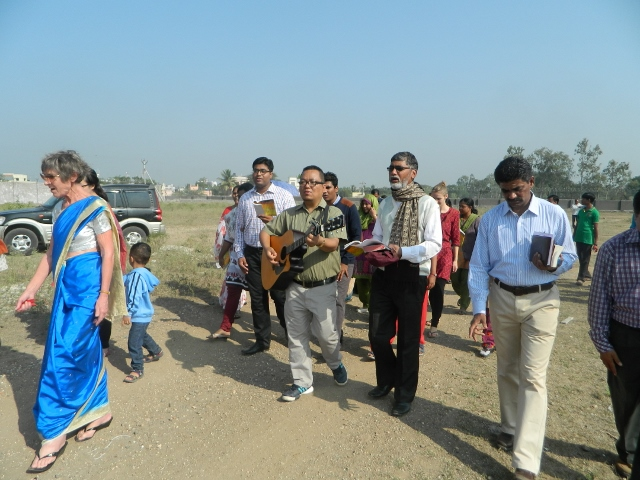 Officials at the Dongre Vasti wall opening ceromony